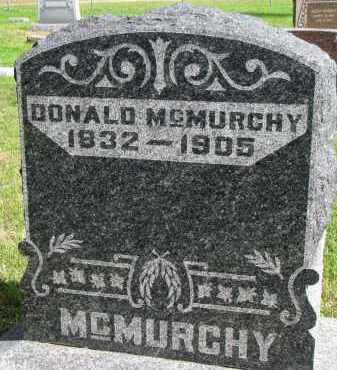 MCMURCHY, DONALD - Clay County, South Dakota | DONALD MCMURCHY - South Dakota Gravestone Photos