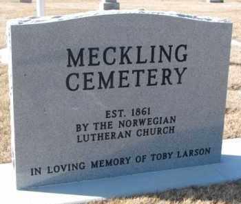 *MECKLING, EST. 1861 MARKER - Clay County, South Dakota | EST. 1861 MARKER *MECKLING - South Dakota Gravestone Photos
