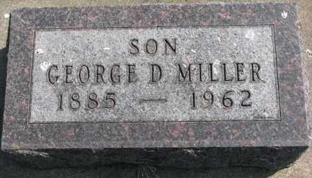 MILLER, GEORGE D. - Clay County, South Dakota | GEORGE D. MILLER - South Dakota Gravestone Photos