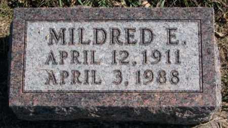 MILLER, MILDRED E. - Clay County, South Dakota | MILDRED E. MILLER - South Dakota Gravestone Photos
