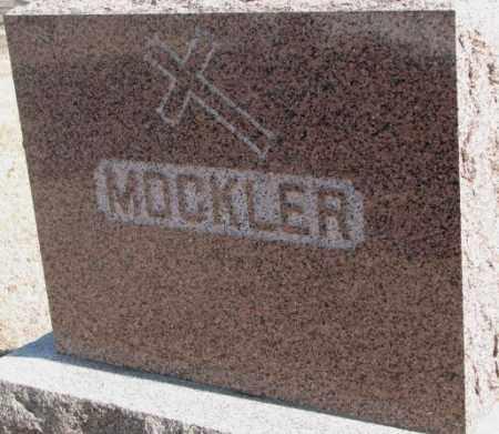 MOCKLER, PLOT - Clay County, South Dakota   PLOT MOCKLER - South Dakota Gravestone Photos
