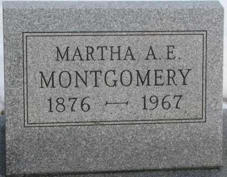 MONTGOMERY, MARTHA A.E. - Clay County, South Dakota   MARTHA A.E. MONTGOMERY - South Dakota Gravestone Photos