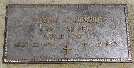 MOORE, ELMER L. (WW II) - Clay County, South Dakota   ELMER L. (WW II) MOORE - South Dakota Gravestone Photos