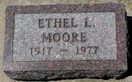 MOORE, ETHEL L. - Clay County, South Dakota | ETHEL L. MOORE - South Dakota Gravestone Photos