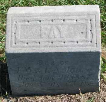 MOORE, FAY - Clay County, South Dakota | FAY MOORE - South Dakota Gravestone Photos