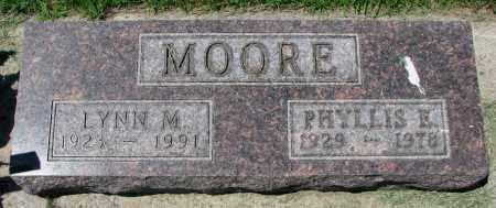 MOORE, LYNN M. - Clay County, South Dakota | LYNN M. MOORE - South Dakota Gravestone Photos