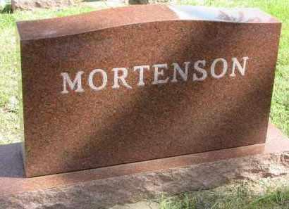MORTENSON, FAMILY STONE - Clay County, South Dakota | FAMILY STONE MORTENSON - South Dakota Gravestone Photos