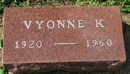 MORTENSON, VYONNE K. - Clay County, South Dakota | VYONNE K. MORTENSON - South Dakota Gravestone Photos