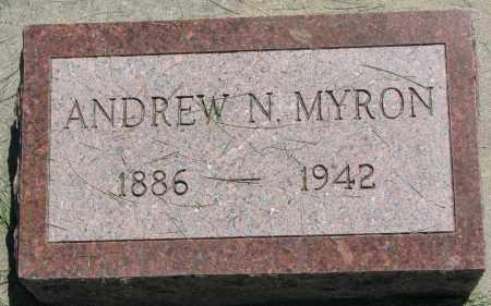 MYRON, ANDREW N. - Clay County, South Dakota | ANDREW N. MYRON - South Dakota Gravestone Photos