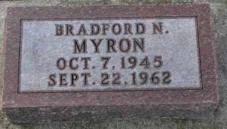 MYRON, BRADFORD N. - Clay County, South Dakota | BRADFORD N. MYRON - South Dakota Gravestone Photos