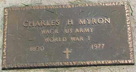MYRON, CHARLES H. (WW I) - Clay County, South Dakota | CHARLES H. (WW I) MYRON - South Dakota Gravestone Photos