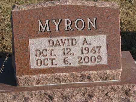 MYRON, DAVID A. - Clay County, South Dakota   DAVID A. MYRON - South Dakota Gravestone Photos