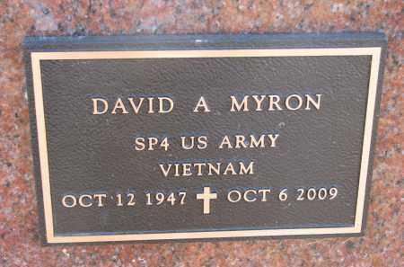 MYRON, DAVID A. (MILITARY) - Clay County, South Dakota | DAVID A. (MILITARY) MYRON - South Dakota Gravestone Photos