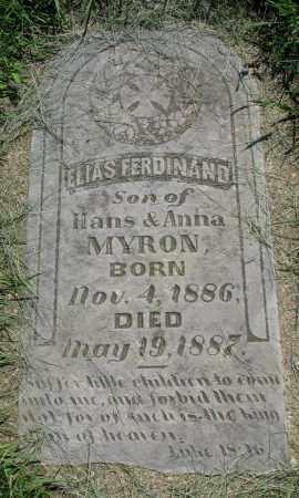 MYRON, ELIAS FERDINAND - Clay County, South Dakota | ELIAS FERDINAND MYRON - South Dakota Gravestone Photos