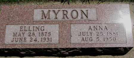 MYRON, ELLING - Clay County, South Dakota | ELLING MYRON - South Dakota Gravestone Photos