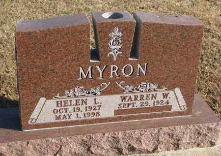 MYRON, WARREN W. - Clay County, South Dakota | WARREN W. MYRON - South Dakota Gravestone Photos