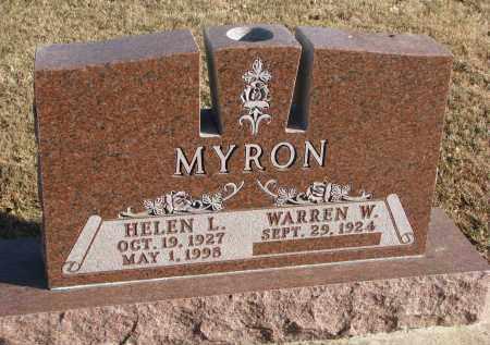MYRON, HELEN L. - Clay County, South Dakota | HELEN L. MYRON - South Dakota Gravestone Photos