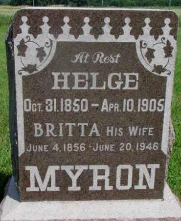 MYRON, HELGE - Clay County, South Dakota   HELGE MYRON - South Dakota Gravestone Photos