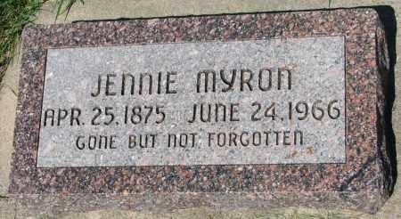 MYRON, JENNIE - Clay County, South Dakota | JENNIE MYRON - South Dakota Gravestone Photos