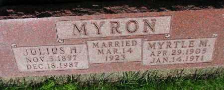 MYRON, MYRTLE M. - Clay County, South Dakota | MYRTLE M. MYRON - South Dakota Gravestone Photos