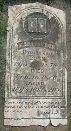 OLSON MYRON, KARI - Clay County, South Dakota | KARI OLSON MYRON - South Dakota Gravestone Photos