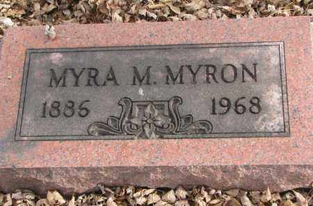 MYRON, MYRA M. - Clay County, South Dakota | MYRA M. MYRON - South Dakota Gravestone Photos