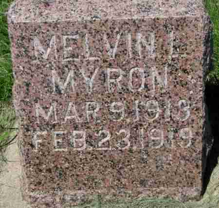 MYRON, MELVIN L. - Clay County, South Dakota | MELVIN L. MYRON - South Dakota Gravestone Photos