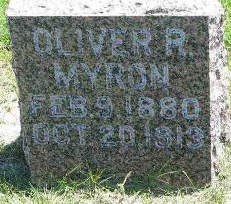 MYRON, OLIVER R. - Clay County, South Dakota   OLIVER R. MYRON - South Dakota Gravestone Photos