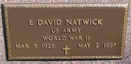 NATWICK, E. DAVID (WW II) - Clay County, South Dakota   E. DAVID (WW II) NATWICK - South Dakota Gravestone Photos