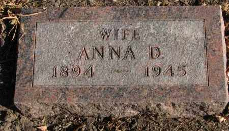 NELSON, ANNA D. - Clay County, South Dakota | ANNA D. NELSON - South Dakota Gravestone Photos
