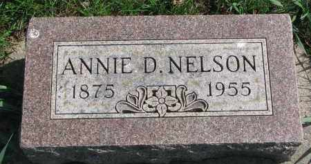 NELSON, ANNIE D. - Clay County, South Dakota | ANNIE D. NELSON - South Dakota Gravestone Photos