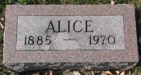 NELSON, ALICE - Clay County, South Dakota | ALICE NELSON - South Dakota Gravestone Photos