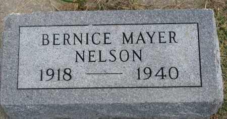 MAYER NELSON, BERNICE - Clay County, South Dakota | BERNICE MAYER NELSON - South Dakota Gravestone Photos