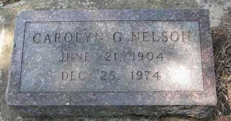 NELSON, CAROLYN G. - Clay County, South Dakota | CAROLYN G. NELSON - South Dakota Gravestone Photos