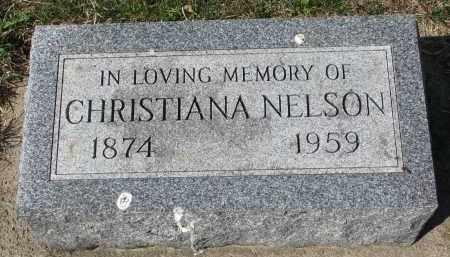 NELSON, CHRISTIANA - Clay County, South Dakota | CHRISTIANA NELSON - South Dakota Gravestone Photos