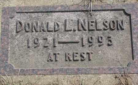 NELSON, DONALD L. - Clay County, South Dakota   DONALD L. NELSON - South Dakota Gravestone Photos