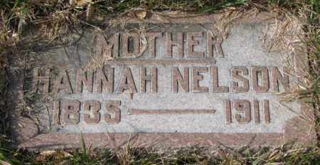 NELSON, HANNAH - Clay County, South Dakota | HANNAH NELSON - South Dakota Gravestone Photos
