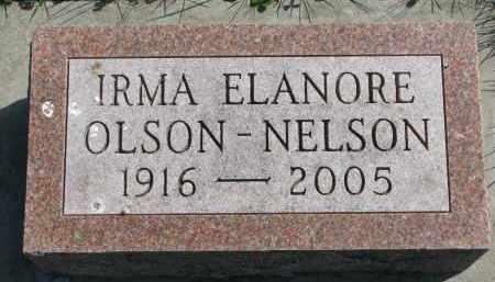 NELSON, IRMA ELANORE - Clay County, South Dakota | IRMA ELANORE NELSON - South Dakota Gravestone Photos
