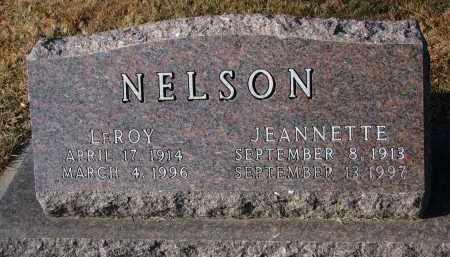 NELSON, JEANNETTE - Clay County, South Dakota | JEANNETTE NELSON - South Dakota Gravestone Photos