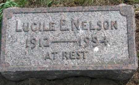 NELSON, LUCILE E. - Clay County, South Dakota   LUCILE E. NELSON - South Dakota Gravestone Photos