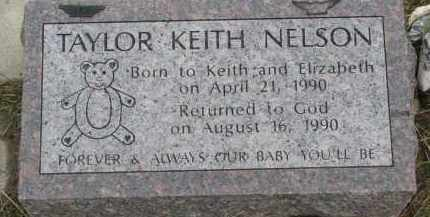 NELSON, TAYLOR KEITH - Clay County, South Dakota   TAYLOR KEITH NELSON - South Dakota Gravestone Photos