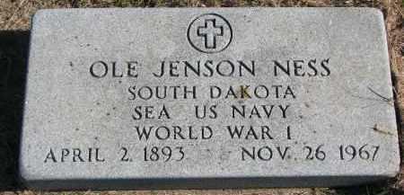 NESS, OLE JENSON - Clay County, South Dakota | OLE JENSON NESS - South Dakota Gravestone Photos
