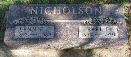 NICHOLSON, EARL F. - Clay County, South Dakota | EARL F. NICHOLSON - South Dakota Gravestone Photos