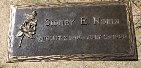 NORIN, SIDNEY E. - Clay County, South Dakota | SIDNEY E. NORIN - South Dakota Gravestone Photos