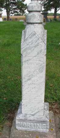 NORLING, ANNA CHRISTINA - Clay County, South Dakota | ANNA CHRISTINA NORLING - South Dakota Gravestone Photos