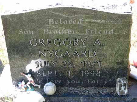 NYGAARD, GREGORY A. - Clay County, South Dakota   GREGORY A. NYGAARD - South Dakota Gravestone Photos