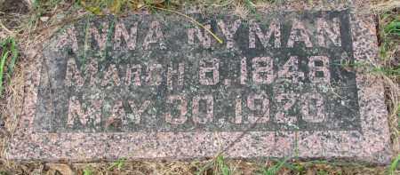 NYMAN, ANNA - Clay County, South Dakota | ANNA NYMAN - South Dakota Gravestone Photos