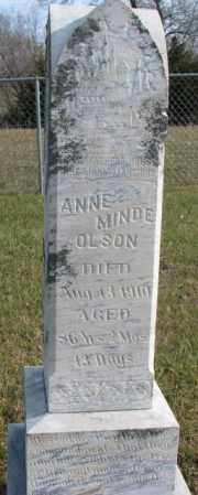 OLSON, ANNE MINDE - Clay County, South Dakota | ANNE MINDE OLSON - South Dakota Gravestone Photos