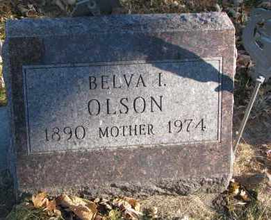 OLSON, BELVA I. - Clay County, South Dakota   BELVA I. OLSON - South Dakota Gravestone Photos