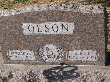 OLSON, ALICE K. - Clay County, South Dakota | ALICE K. OLSON - South Dakota Gravestone Photos
